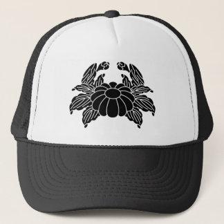 Crab chrysanthemum trucker hat