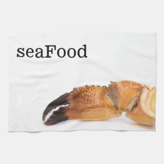 Crab claw tea towel