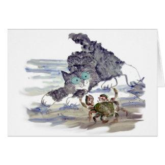 Crab Dancing - Kitten and Crab Tango Card
