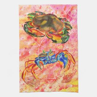 Crab design kitchen/hand towel