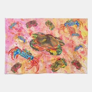 Crab design kitchen towel