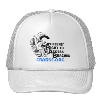 CRAB DOLPHIN LOGO PRINTED CAP TRUCKER HAT