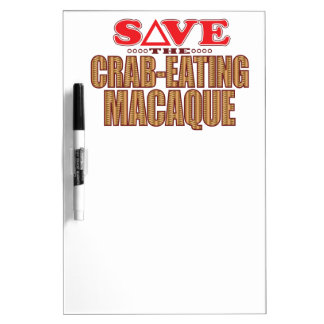 Crab-Eating Macaque Save Dry Erase Board