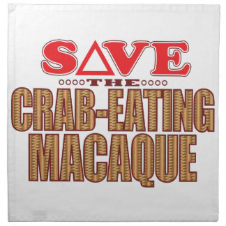 Crab-Eating Macaque Save Napkin