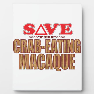 Crab-Eating Macaque Save Plaque