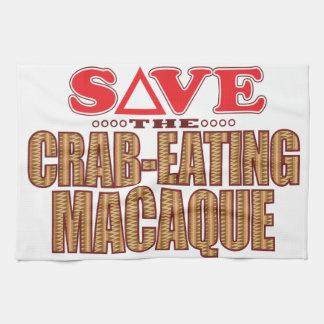 Crab-Eating Macaque Save Tea Towel