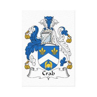 Crab Family Crest Canvas Prints