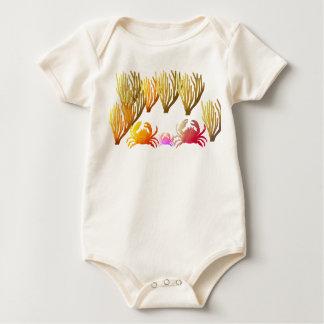 crab family Organic Cotton Baby Bodysuit