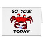 Crab Happy 40th Birthday Card