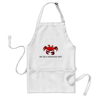 Crab I'm On A Seafood Diet Apron