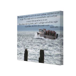 Crab-in-the-bucket syndrome stretched canvas print