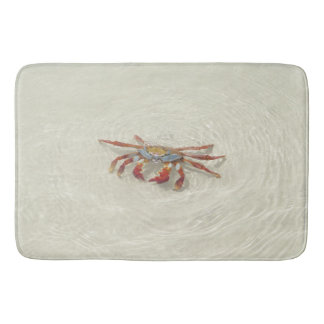 crab in to water bath mat