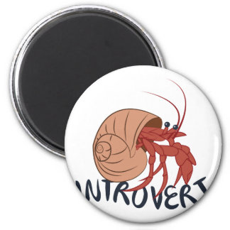 Crab Introvert 6 Cm Round Magnet