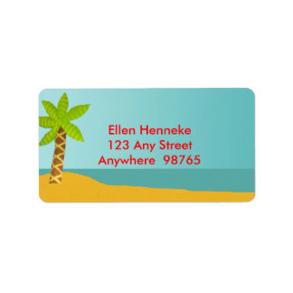 Crab Island Address Label