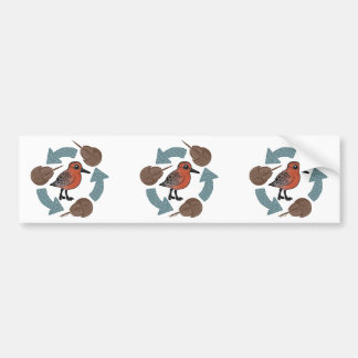 Crab-Knot Cycle Bumper Sticker