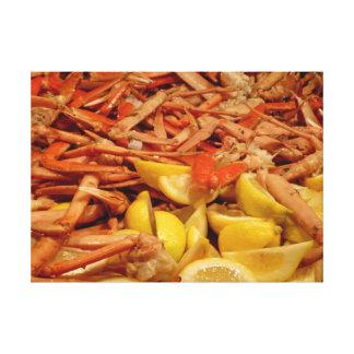 Crab Leg Feast Canvas Prints