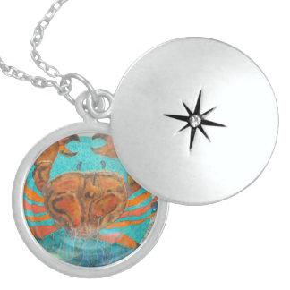Crab Locket Necklace