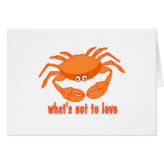 Crab Love Greeting Card