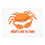 Crab Love Personalised Invitation