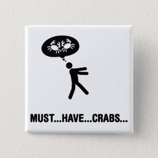 Crab Lover 15 Cm Square Badge