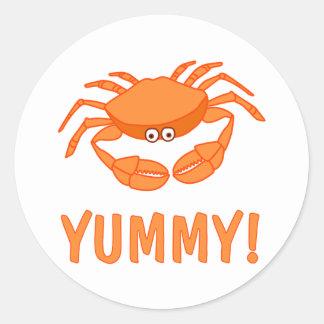 Crab Lover Round Sticker
