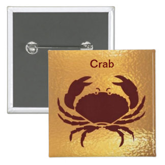 Crab Marine Fish Bird Insect   - Medal Icon Gold 15 Cm Square Badge