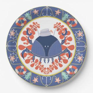 Crab marine plate