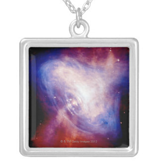 Crab Nebula 3 Silver Plated Necklace