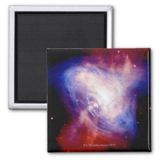 Crab Nebula 3 Square Magnet