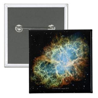Crab Nebula 4 15 Cm Square Badge