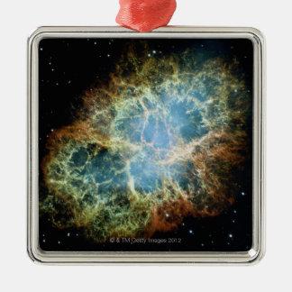 Crab Nebula 4 Silver-Colored Square Decoration