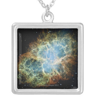 Crab Nebula 4 Silver Plated Necklace