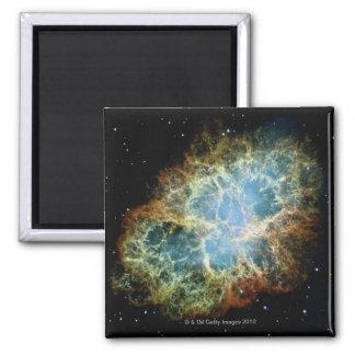 Crab Nebula 4 Square Magnet