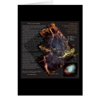 Crab Nebula and its History Hubble Telescope Greeting Card