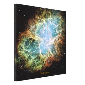 Crab Nebula Stretched Canvas Prints