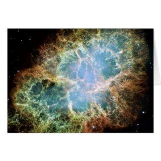 Crab Nebula Greeting Card