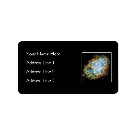Crab Nebula – Hubble Telescope Address Label