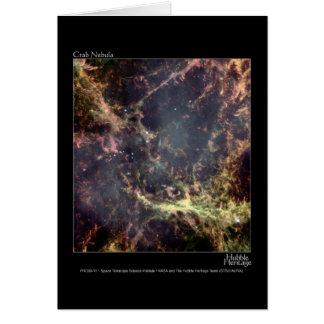 Crab Nebula Hubble Telescope Card