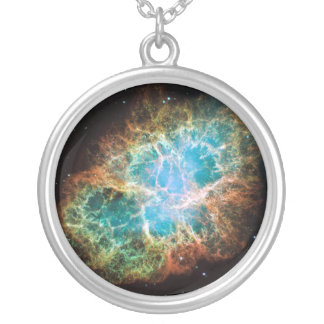 Crab Nebula – Hubble Telescope Silver Plated Necklace