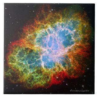 Crab Nebula Large Square Tile