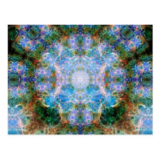 Crab Nebula Mandala Postcard