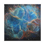 Crab Nebula Space Art Canvas Print