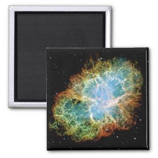 Crab Nebula Square Magnet