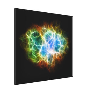 Crab Nebula Star Space Cloud Stretched Canvas Print