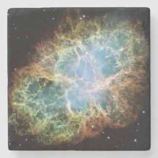 Crab Nebula Stone Beverage Coaster