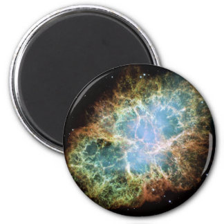 Crab Nebula Supernova NASA 6 Cm Round Magnet