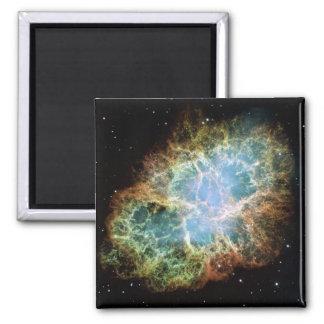 Crab Nebula Supernova NASA Square Magnet