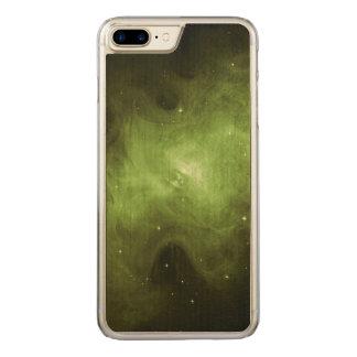 Crab Nebula, Supernova Remnant, Green Light Carved iPhone 8 Plus/7 Plus Case