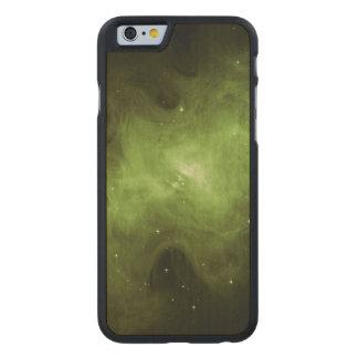Crab Nebula, Supernova Remnant, Green Light Carved Maple iPhone 6 Case