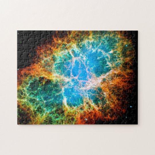 Crab Nebula Supernova Remnant Hubble Space Photo Jigsaw